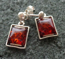 BALTIC  COGNAC   AMBER  earrings  WOMEN  #2