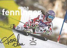 Autogramm Olympiasiegerin Anna Fenninger - Veith 3 x WM Osterreich Ski Alpine