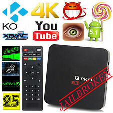 Q PRO S905X Smart TV BOX Quad Core Android5.1 XBMC HD 1080p WIFI 4K Video New