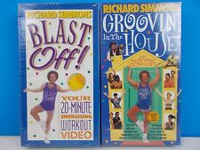 exercise Richard Simmons 2 VHS Tapes Sealed blast groovin fitness weight loss