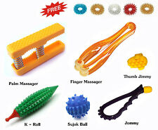 Acupressure (7in1) Health Kit - Palm Finger Massager, K-Roller, Sujok Ball Rings