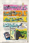 1983 Captain America Annual 7 page 13 Marvel Comics color guide art: 1980's