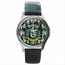 NEW* HOT HARRY POTTER  SLYTHERIN HOGWARTS SCHOOL Silver Tone Round Wrist Watch