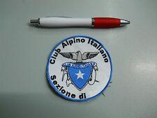 toppa patch cai club alpino italiano sezione di... cm 8 ricamato termoadesivo
