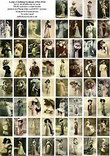 LADIES CLOTHING FASHIONS 1910-1918 - 60 ALL DIFFERENT A6 ART CARDS
