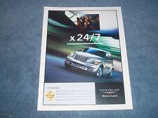 """2002 Chrysler PT Cruiser Ad """"X 24/7"""""""