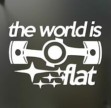 The world is flat sticker V2 Subaru WRX STI BRZ Scion Funny JDM hooligan decal
