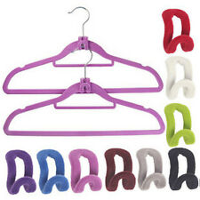 10Pcs/Pack New Mini Flocking Clothes Hanger Easy Hook Closet Home Organizer &