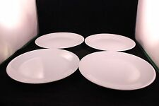 SET OF 4 VINTAGE CORELL BY CORNING WHITE PLATES