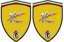 2 stickers adhésifs FIAT coupé 20 V TURBO   (idéal pour ailes avant)