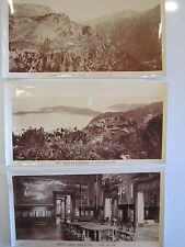 SET of 9 Original c. 1950 PANORAMIC Photos of NICE, MONTE CARLO, GOURDON, EZE *