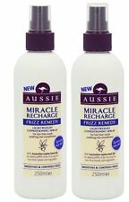 Aussie MIRACLE RECHARGE Frizz Remedy  LEAVE IN Conditioning Spray 250ml x 2