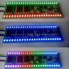 RGB MCU Display Pattern Dual Channel 24 LED VU level indicator meter FAmplifier