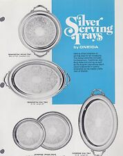 1974 VINTAGE CATALOG #1838 - ONEIDA SILVER SERVING TRAYS