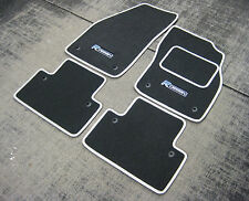 Car Mats - Grey w/ Silver Trim to fit Volvo V40/S40/V50 (04-12) + R Design Logos