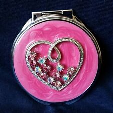Pink Heart Double Mirror Compact