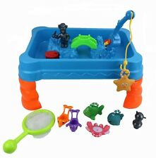 Childrens Sand & Water Play Table & Fishing Net Game Kids Garden Sandpit Toy 236