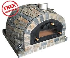 Wood / Gas fired  pizza oven - EXCLUSIVE - PIZZA MODEL Natural Stone