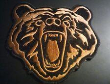 Iron on Bear Face Patch Kodiak Punk Metal Vest or Jacket Patch