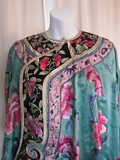 Antique 19th century Qing Silk Embroidered Asian Chinese Robe