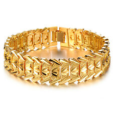Mens Women's Unisex 18K Gold Filled Bracelet G16