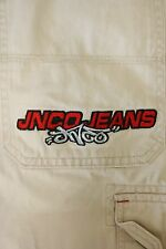 JNCO Embroidered Mens Cargo Pants Baggy Rave Combat Trousers 38 x 31 Tan 2835