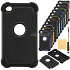 Hot Triple ShockProof Silicon Case Cover For IPod Touch 4th 5th Generation Gen