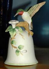 Vintage 1984 Royal Crown Porcelain Hummingbird BELL Signed artist