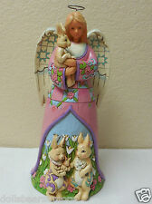 """MWB! 2013 Jim Shore """"SIGNS OF SPRING"""" Easter Angel With Bunnies #4037678 CUTE!"""