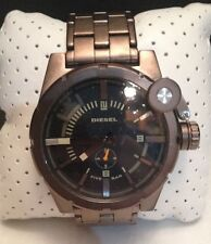 DIESEL DZ4236 MEN'S SCREW DOWN CROWN COVER BRONZE WATCH NIB MSRP $235