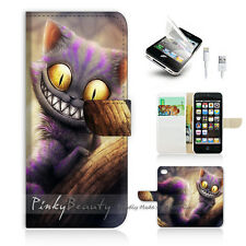 iPhone 5 5S Print Flip Wallet Case Cover! Cartoon Cheshire Cat P0327