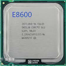 Intel® Core™2 Duo Processor E8600  (6M Cache, 3.33 GHz, 1333 MHz FSB)