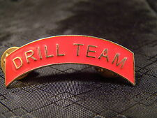Drill Team Arch Pin Arc Tab Junior JROTC, ROTC, New Old Stock Red Gold Ver 1