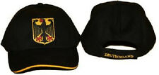 German Germany Deutschland Eagle Hat Cap (Black) 3D embroidered