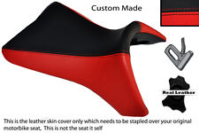 BLACK & RED CUSTOM FITS BUELL 1125 R CR XB 12 R XB 9 R FRONT LEATHER SEAT COVER
