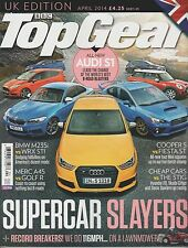 BBC TOP GEAR UK MAGAZINE April 2014, SUPERCAR SLAYERS + RECORD BREAKERS!.