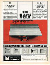 PUBLICITE ADVERTISING 014   1965   MISCHLER   fermetures portes de garage volets