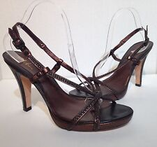Cole Haan Brown Braided Strappy Heels Size 10