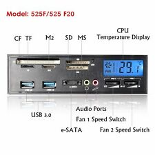 "5.25"" PCIE USB 3.0 e-SATA All in 1 Media Dashboard Front Panel Multi Card Reader"