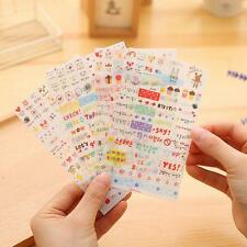 6 PCS Diary Decor Scrapbooking Stickers PVC Stationery Planner Post It Decal