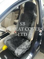TO FIT A FORD ESCORT CAR, SEAT COVERS, GREY DIAMOND FAUX FUR