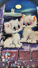 1976 My Blue Heaven Fuzzy Kittens by Castle fantasy vintage new  NOS poster HBX7