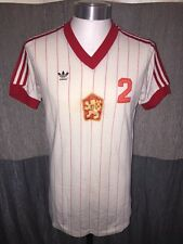 Rare Adidas Czechoslovakia 1981 Away Football Shirt Soccer Jersey Size L No.2