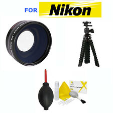 52mm WIDE ANGLE LENS + MACRO + TRIPOD + GIFTS FOR NIKON D7000 D7100 D7200 D3100