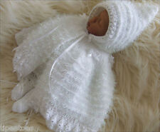 Baby Knitting Pattern 10 TO KNIT Girls or Reborn Doll Christening Cape & Bootees