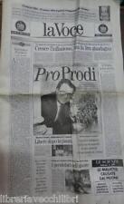 LA VOCE 22 marzo 1995 Prodi Sierra Leone Manovra Caso Sisde Luigi Coccioli FIAT