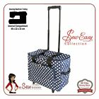 Sewing Machine Trolley Bag Tote Navy fits Janome Singer Brother Elna Bernette