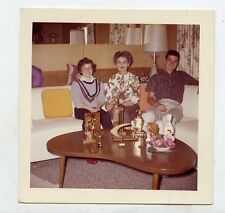 1960s Square color photo Family Home Mid Century Modern Furniture Bowling Trophy