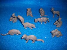 Marx matched set of 54mm North American Wild animals, 10 in 9 types