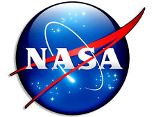 """4x4 inch """"3D Look"""" NASA Meatball Logo Shaped Sticker -decal 3d space science"""